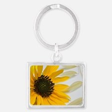 Sunflower with Wild Oats Landscape Keychain