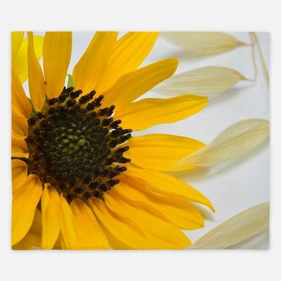 Sunflower with Wild Oats King Duvet