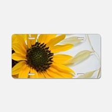 Sunflower with Wild Oats Aluminum License Plate