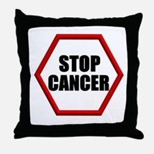 Stop Cancer Throw Pillow
