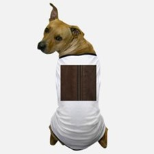 Leather Brown Zipper Dog T-Shirt