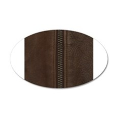 Leather Brown Zipper Wall Decal