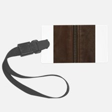 Leather Brown Zipper Luggage Tag