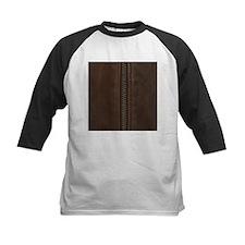 Leather Brown Zipper Baseball Jersey