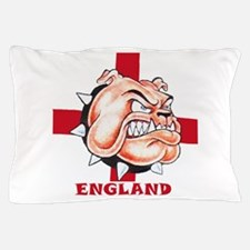 English Bulldog With St Georges Cross Pillow Case