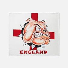 English Bulldog With St Georges Cross Throw Blanke