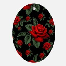 CHRISTMAS ROSES Ornament (Oval)