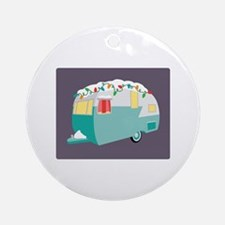 Christmas Camper Ornament (Round)