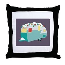 Christmas Camper Throw Pillow