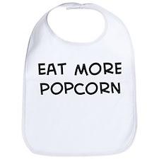 Eat more Popcorn Bib