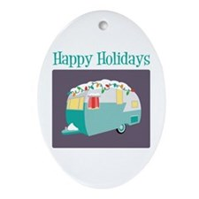 Happy Holidays Ornament (Oval)