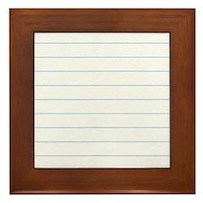 Notebook Paper Lined Framed Tile