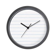 Notebook Paper Lined Wall Clock