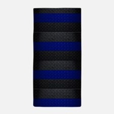 Police Thin Blue Line Beach Towel