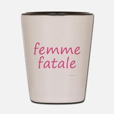 femme fatale Shot Glass