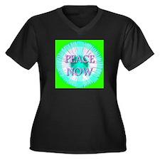 Peace Now Symbol Daisy Fleaba Women's Plus Size V-