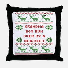 Grandma Got Run Over by A Reindeer Ug Throw Pillow