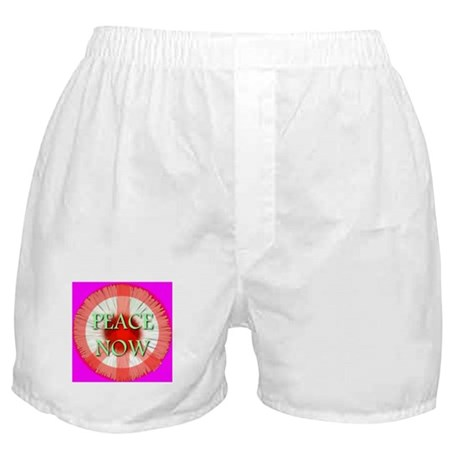 Peace Now Symbol Daisy Fleaba Boxer Shorts