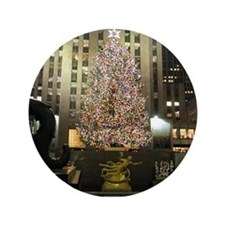 """Christmas in the City 3.5"""" Button (100 pack)"""