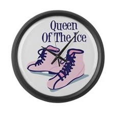Queen Of The Ice Large Wall Clock