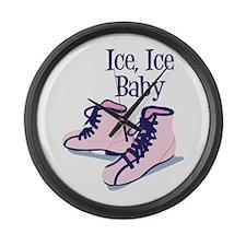 Ice, Ice Baby Large Wall Clock