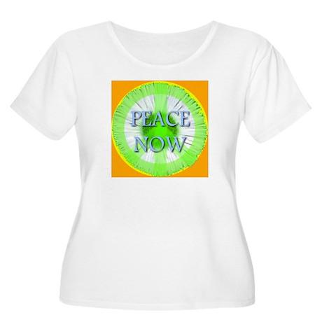 Peace Now Symbol Daisy Fleaba Women's Plus Size Sc