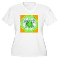 Peace Now Symbol Daisy Fleaba T-Shirt