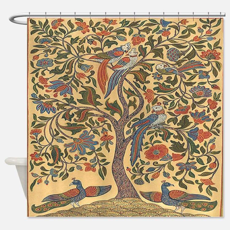 Celtic Tree of Life Shower Curtain - Celtic Tree Of Life Shower Curtains Celtic Tree Of Life Fabric