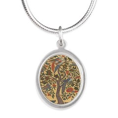 Celtic Tree of Life Silver Oval Necklace