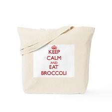 Keep calm and eat Broccoli Tote Bag