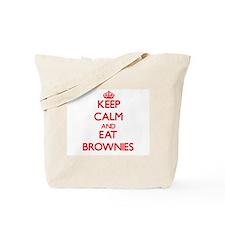 Keep calm and eat Brownies Tote Bag