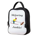 Skijoring Dog Junkie Neoprene Lunch Bag