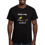 Skijoring Dog Junkie Men's Fitted T-Shirt (dark)