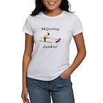 Skijoring Dog Junkie Women's T-Shirt