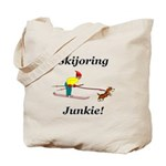 Skijoring Dog Junkie Tote Bag