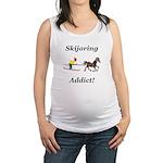 Skijoring Horse Addict Maternity Tank Top
