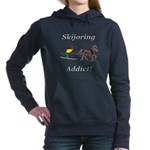 Skijoring Horse Addict Hooded Sweatshirt