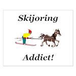 Skijoring Horse Addict Small Poster