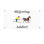 Skijoring Horse Addict Banner
