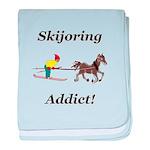 Skijoring Horse Addict baby blanket