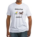Skijoring Horse Addict Fitted T-Shirt