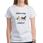 Skijoring Horse Addict Women's T-Shirt