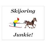 Skijoring Horse Junkie Small Poster