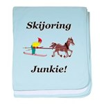 Skijoring Horse Junkie baby blanket