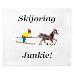 Skijoring Horse Junkie King Duvet