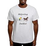 Skijoring Horse Junkie Light T-Shirt
