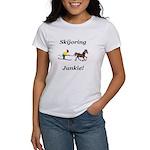 Skijoring Horse Junkie Women's T-Shirt