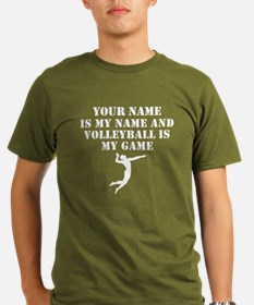 Volleyball Is My Game (Custom) T-Shirt