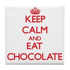 Keep calm and eat Chocolate Tile Coaster