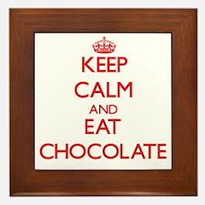 Keep calm and eat Chocolate Framed Tile